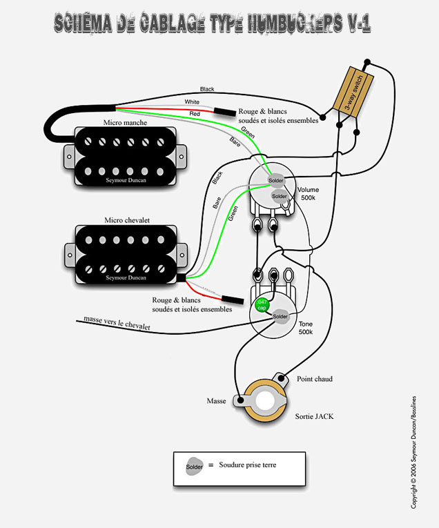Schema Collegamento Humbucker : Schema collegamento humbucker