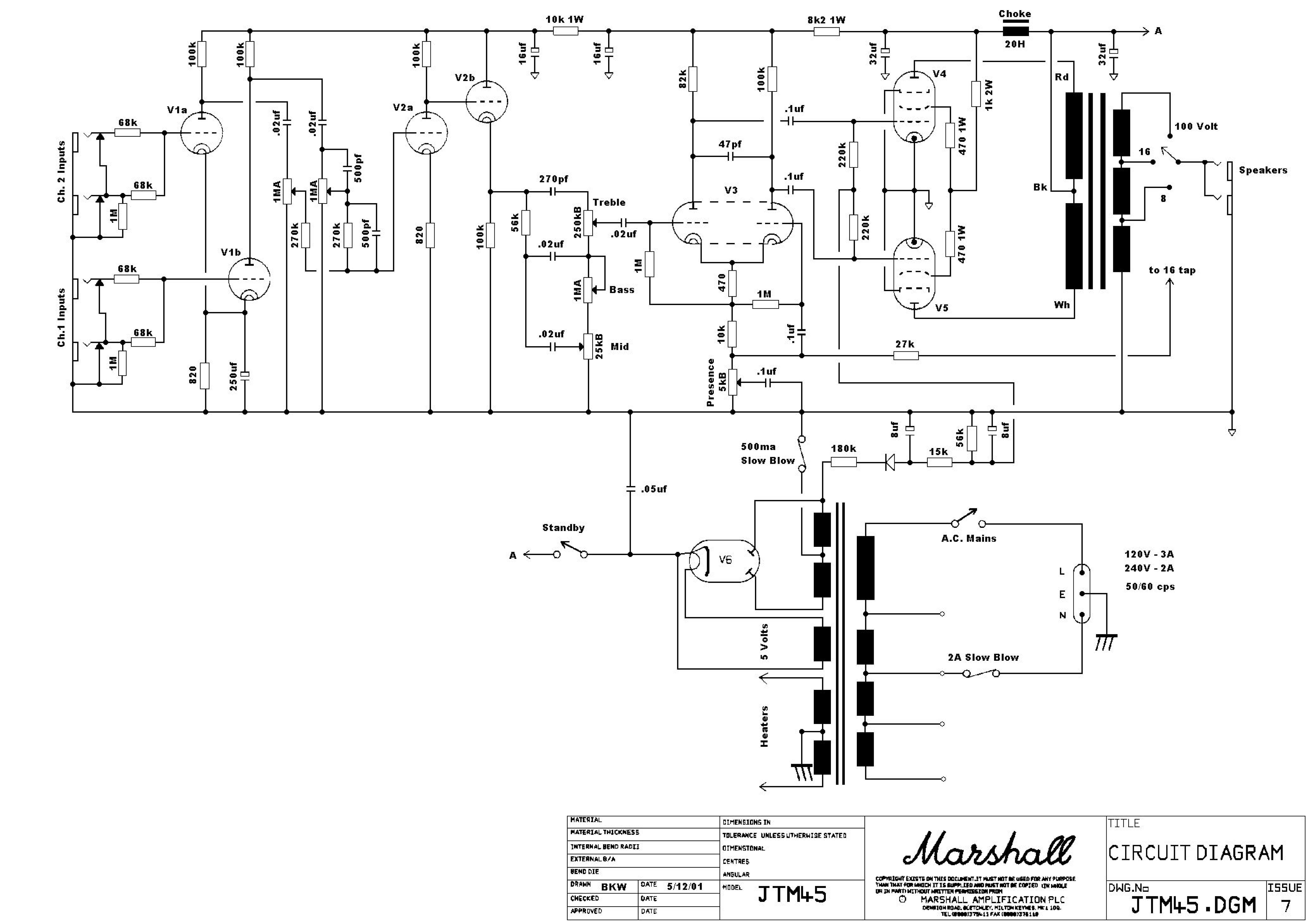 Découpage d'un schéma schéma d'ampli pour pédale JFET