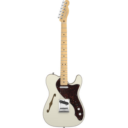 AMERICAN DELUXE TELECASTER THINLINE MAPLE OLYMPIC WHITE