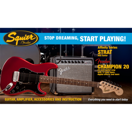 PACK AFFINITY STRAT HSS CANDY APPLE RED CHAMPION 20