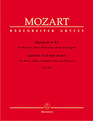 Quintet in E-flat major for Piano, Oboe, Clarinet, Horn and Bassoon