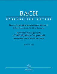 Johann Sebastian Bach: Keyboard Arrangements Of Works By Other Composers, Volume II