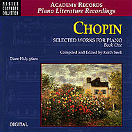 Frederic Chopin: Selected Works for Piano - Book 1 (CD Only)
