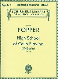 David Popper: High School Of Cello Playing - 40 Etude, Op. 73