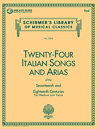 24 Italian Songs & Arias Of The 17th & 18th Centuries - Medium Low Voice - Book/CD