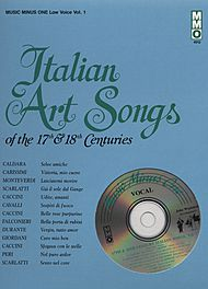 17th/18th Century Italian Songs - Low Voice, vol. I