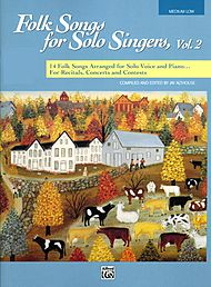 Folk Songs For Solo Singers, Vol. 2 - Book Only (medium Low)