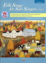 Folk Songs For Solo Singers, Vol. 2 - Book And Compact Disc (medium Low)