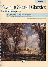 Favorite Sacred Classics For Solo Singers - Book Only (medium High)