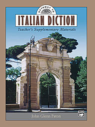 Gateway To Italian Diction - Teacher''s Supplementary Materials