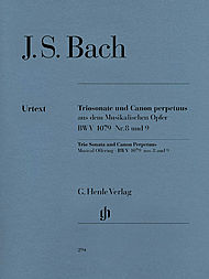 Johann Sebastian Bach: Trio sonata and canon perpetuus from the musical offering fur Flute, Violin and Basso Continuo, BWV 1079 N! 8 and 9