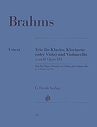 Johannes Brahms: Clarinet trio for Piano, Clarinet (or Viola) and Violoncello A minor op. 114