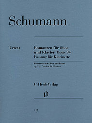 Robert Schumann: Romances for Oboe and Piano, Op. 94 - Clarinet and Piano edition
