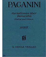 Nicolo Paganini: 60 Variations on Barucaba for Violin and Guitar op. 14