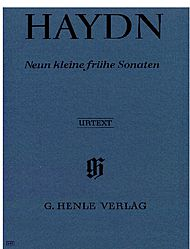Haydn, Joseph: Nine little early sonatas Hob. XVI: 1, 3, 4, 7-10, G1, D1