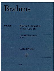 Brahms, Johannes: Clarinet quintet for Clarinet, 2 Violins, Viola and Violoncello in B minor op. 115