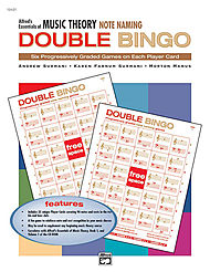 Essentials Of Music Theory - Double Bingo Game (note Naming)