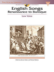 English Songs: Renaissance to Baroque - Low Voice (Book/CD)
