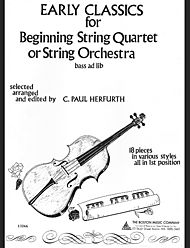 Early Classics For Beginning String Quartet Or String Orchestra - Full Score And Parts