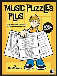 Music Puzzles Plus (25 Educational And Fun Puzzles For Classroom And Home Use) - Book