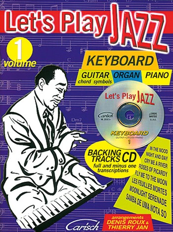Artistes Divers / Various Artists - LET'S PLAY JAZZ : KEYBOARD VOLUME 1 with Guitar chord symbols, organ, piano.