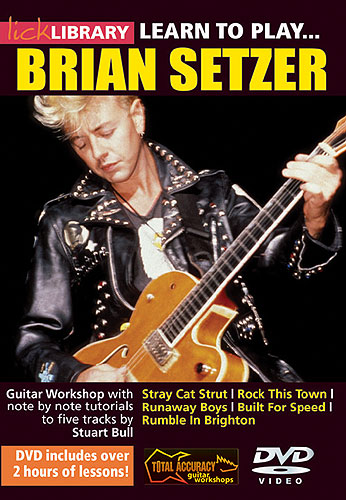 Lick Library : Learn To Play Brian Setzer (DVD)