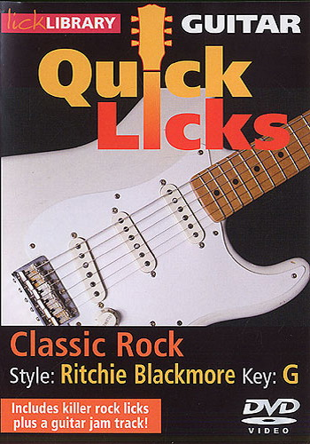 Lick Library : Quick Licks - Ritchie Blackmore Classic Rock (DVD)