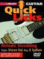 Lick Library : Quick Licks For Guitar - Steve Vai Melodic Shredding (DVD)