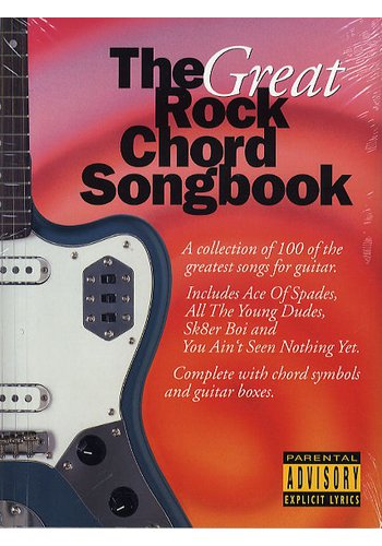 The Great Rock Chord Songbook (Partition)