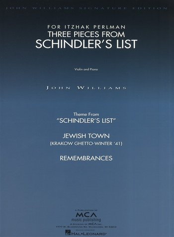 J Williams : 3 Pieces From Schindler's List