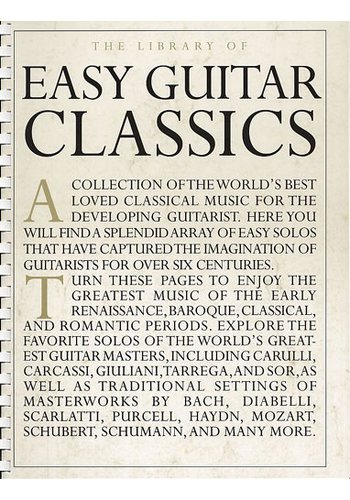 The Library Of Easy Guitar Classics (Partition)