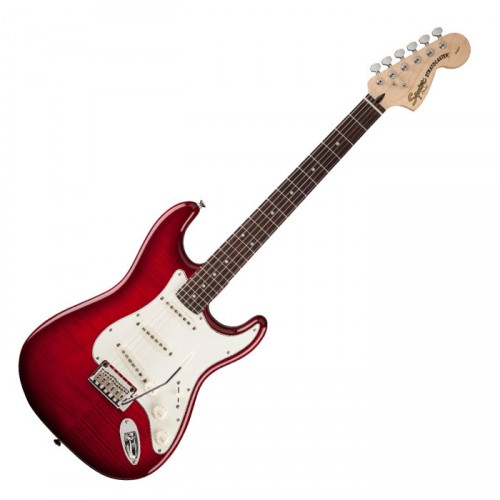 SQUIER STANDARD STRATOCASTER FMT CRIMSON RED TRANSPARENT RW