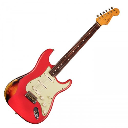 FENDER CUSTOM SHOP '60 STRATOCASTER RELIC FIESTA RED OVER 3TS