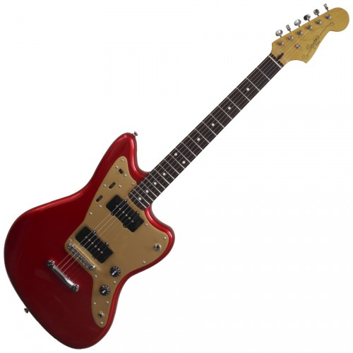 SQUIER DELUXE JAZZMASTER CANDY APPLE RED STOP TAIL