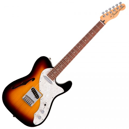 FENDER DELUXE TELECASTER THINLINE 3-COLOR SUNBURST PF
