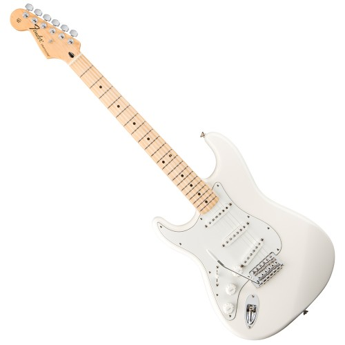 FENDER STANDARD STRATOCASTER ARCTIC WHITE MAPLE GAUCHER