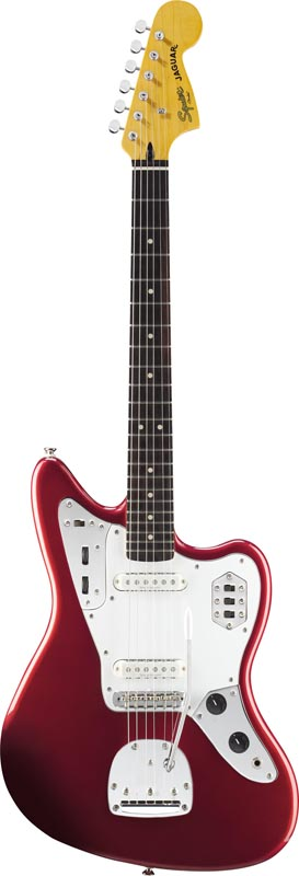 Squier By Fender Jaguar Candy Apple Red Vintage Modified