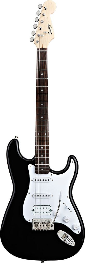 Squier By Fender Stratocaster Hss Black Bullet