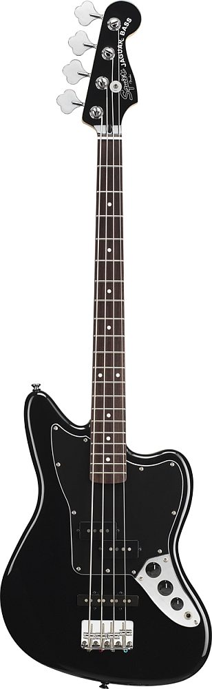 Squier By Fender Jaguar Bass Special Ss Black Vintage Modified