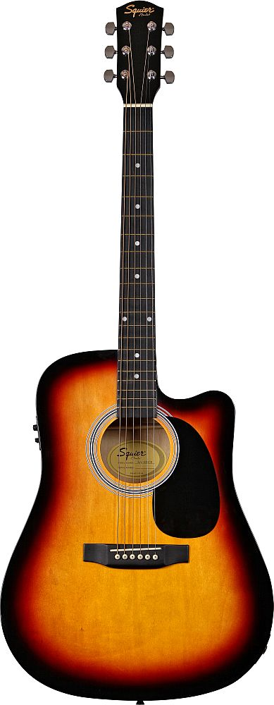 SQUIER BY FENDER SA-105CE SUNBURST