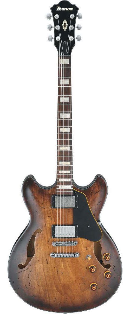 Ibanez Asv10a Tcl Distressed Tobacco Burst Low Gloss