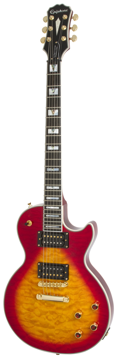 EPIPHONE PROPHECY LES PAUL CUSTOM PLUS GX OUTFIT HERITAGE CHERRY SUNBURST