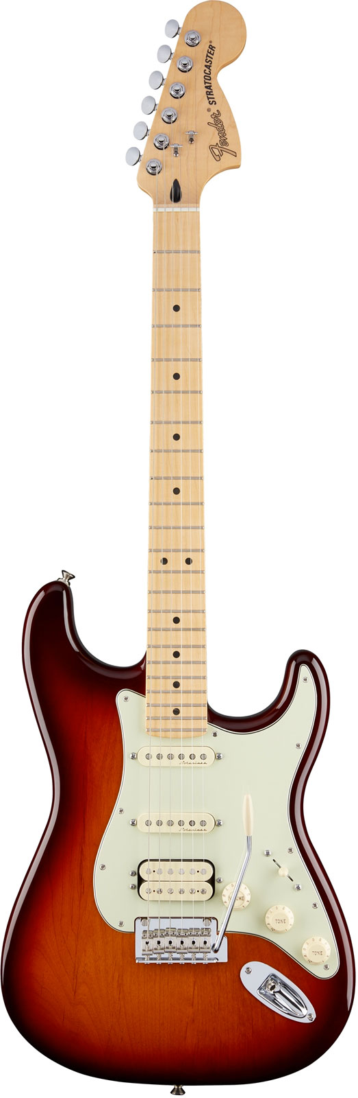 FENDER MEXICAN DELUXE STRATOCASTER HSS MN TOBACCO SUNBURST