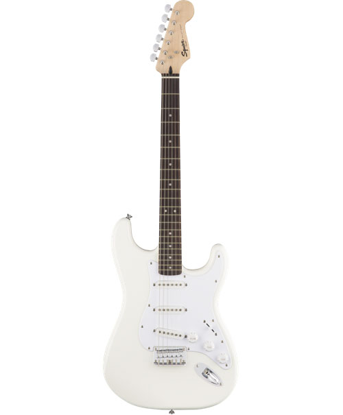 SQUIER BY FENDER STRATOCASTER SSS ARTIC WHITE BULLET HARDTAIL