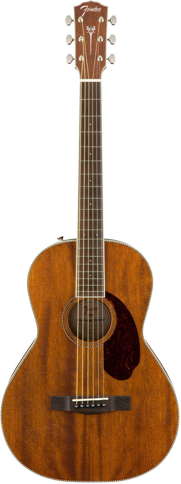 FENDER PARAMOUNT PM-2 PARLOR ALL MAHOGANY NATURAL