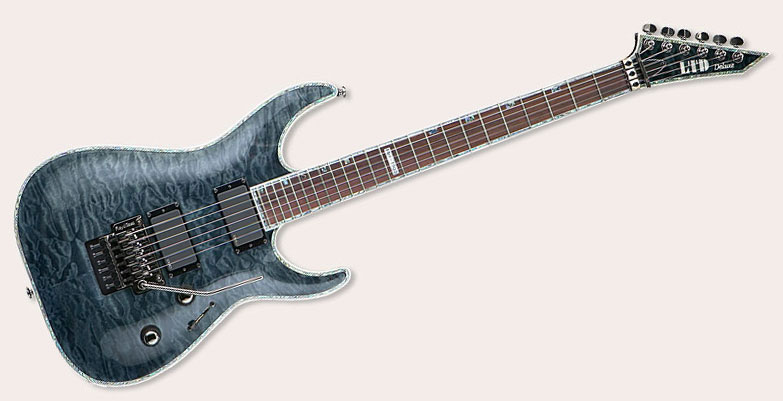 LTD GUITARS MH 1000 FR EMG SEE THRU BLACK