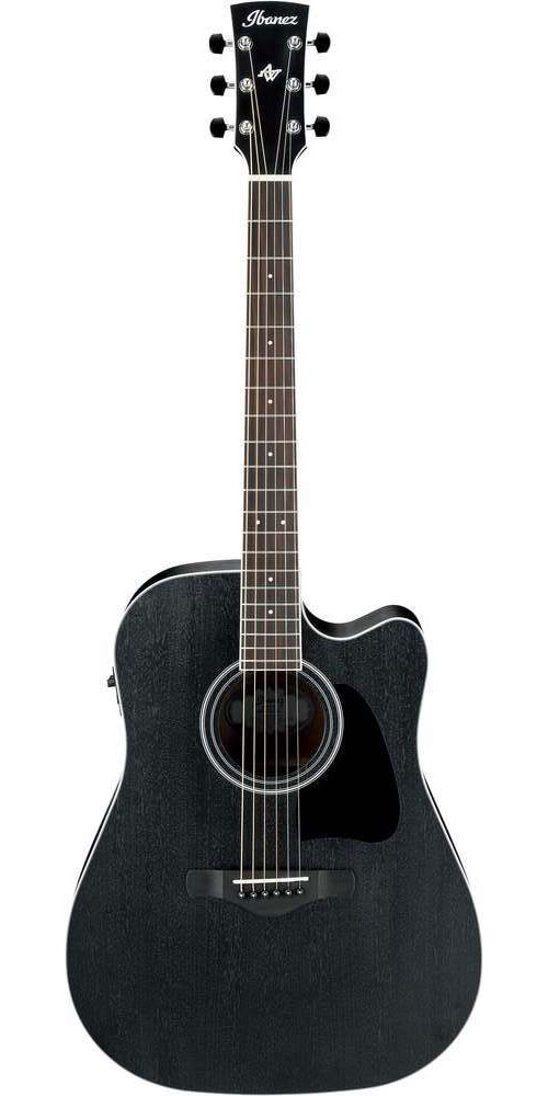 IBANEZ AW ARTWOOD AW84CE-WK WEATHERED BLACK OPEN PORE
