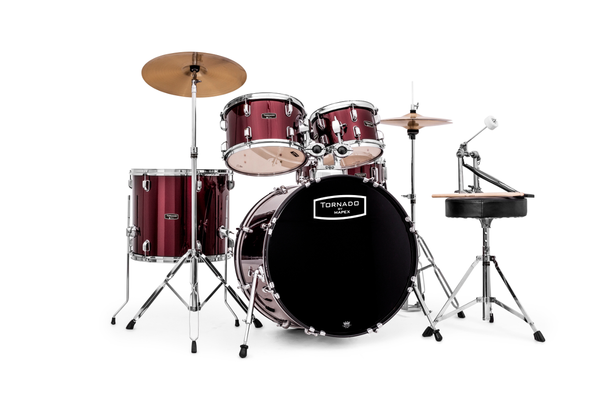 Mapex Tnd5044tcdr - New Tornado V2 Fusion 20 - Bordeaux Wine Red