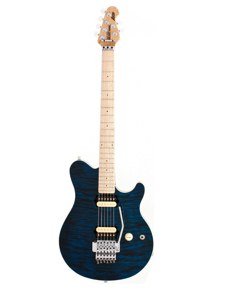 Music Man Axis Mn Translucent Blue