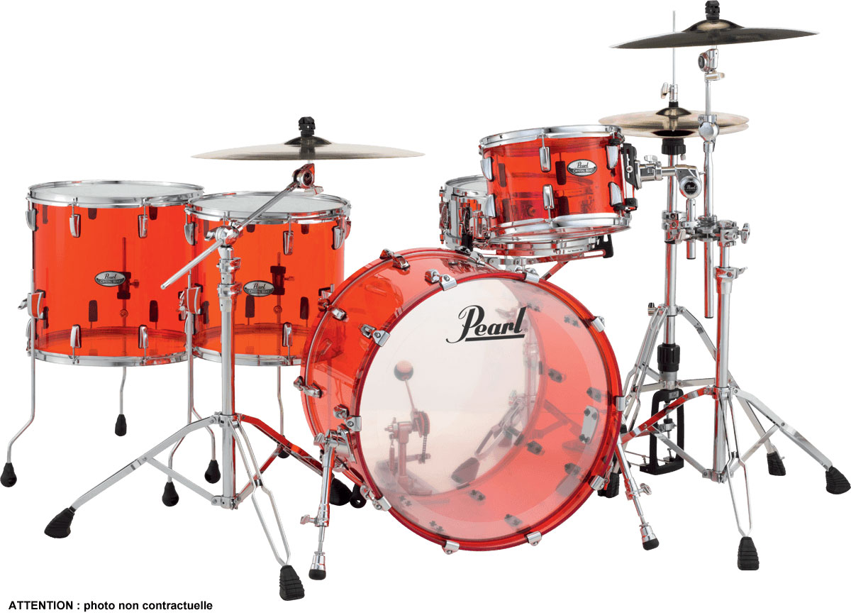 Pearl Crystal Beat - Crb524fpc-731 - Rock 22 4 Futs 2tb- Rudy Red
